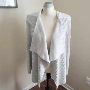 Spanner Light Grey Open Front Waterfall Cardigan
